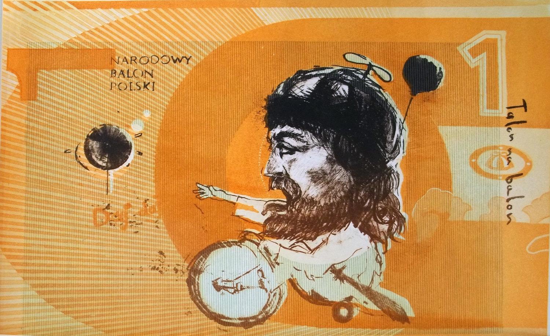 Talon na balon, litografia, akwatinta 35x50 2010-11