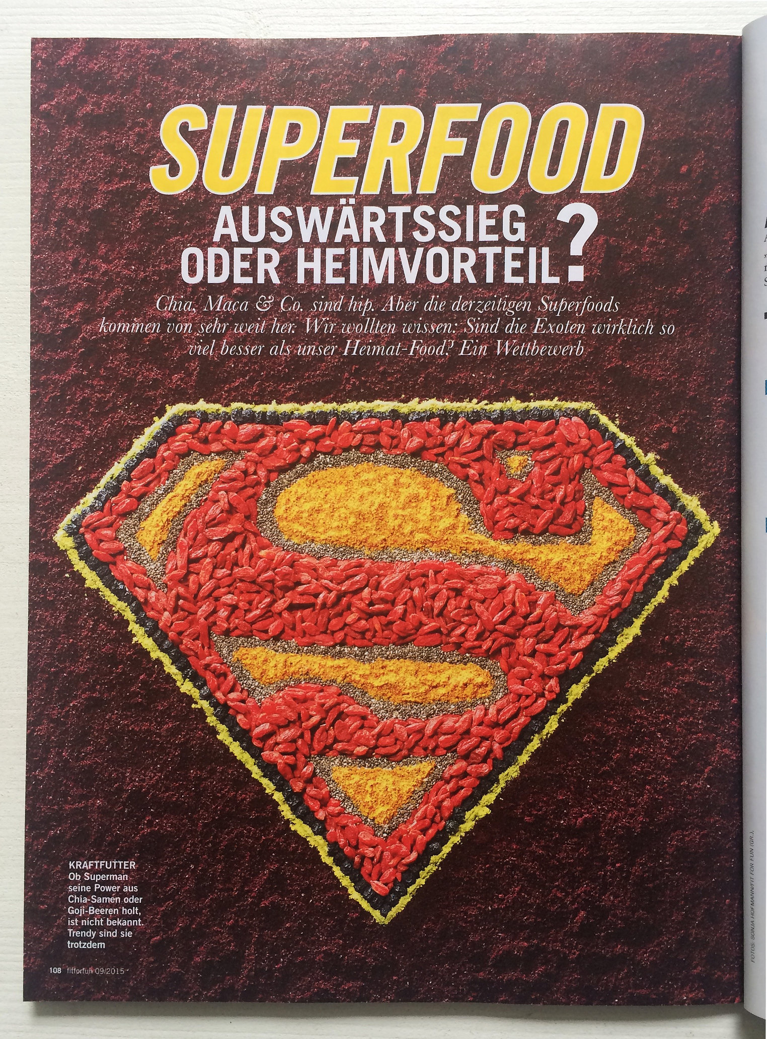 Superfoods for Fit for Fun Magazin