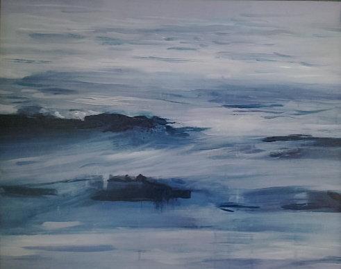 Morze 50x40 akryl płótno 2015