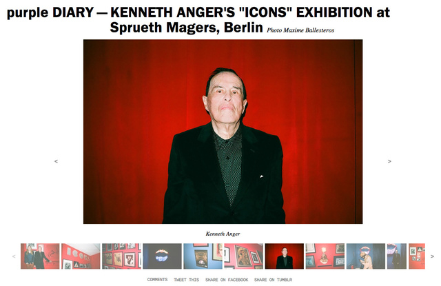 purple DIARY   KENNETH ANGER S  ICONS  EXHIBITION at Sprueth Magers  Berlin.jpg