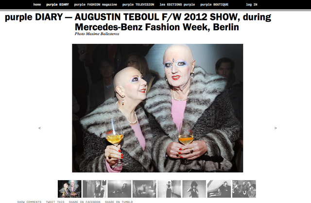 purple DIARY   AUGUSTIN TEBOUL F W 2012 SHOW  during Mercedes Benz Fashion Week  Berlin.png