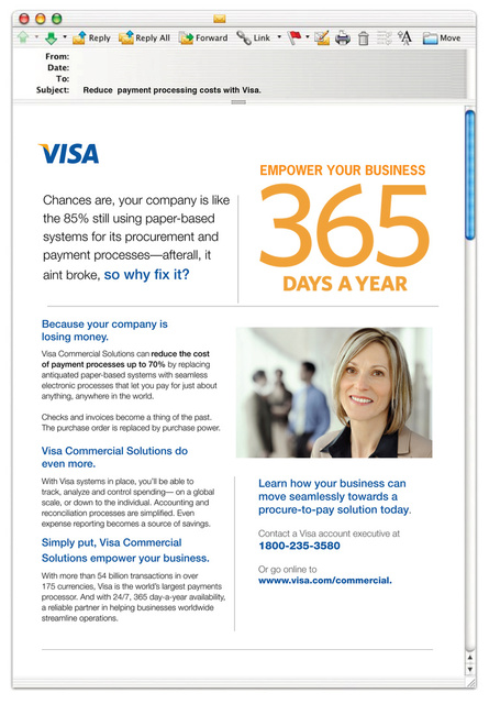 Visa Small Business Solutions Email