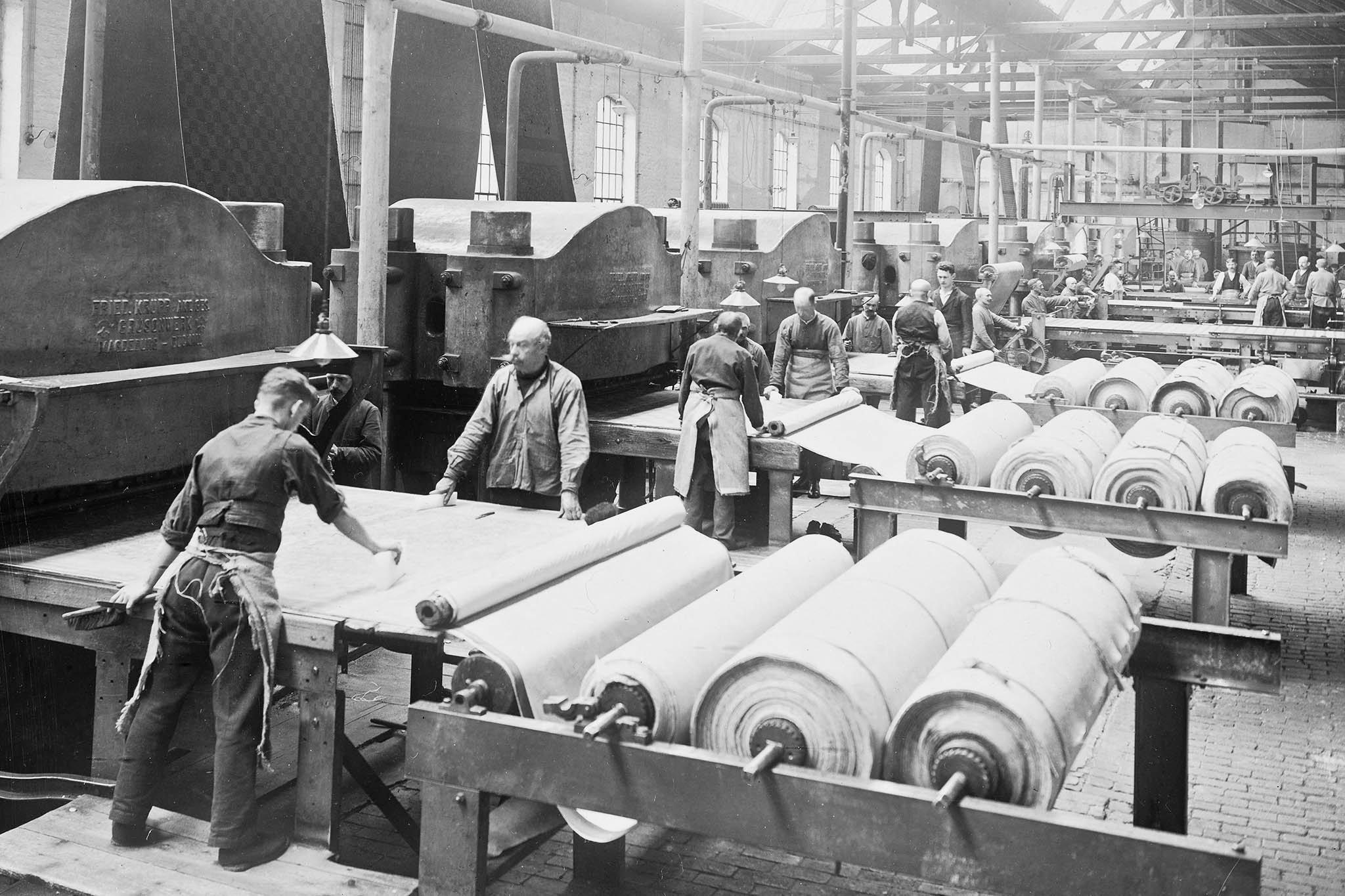 tapijten fabriek ca 1915