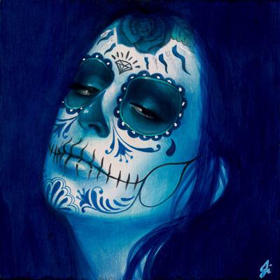 Calavera Azul Añil