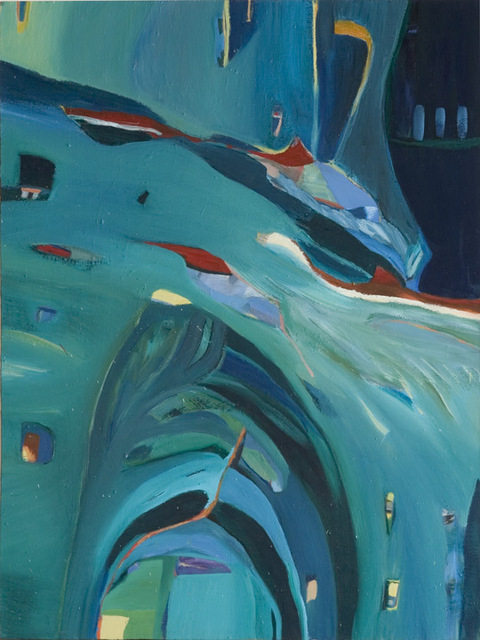 "La Mer, 1994, Oil on Canvas, 48""x40"""