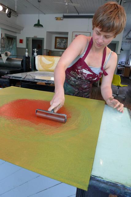 Working at the Women's Studio Workshop