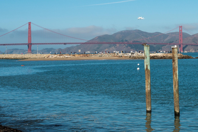 Endeavor over Marin Headlands