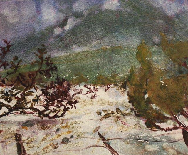 "Sandia Mtns. Cloudhang    10 x 13"""