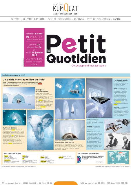 LE PETIT QUOTIDIEN - 25/01/16