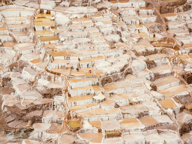 the pre-inca salt mines of salinas outside of maras
