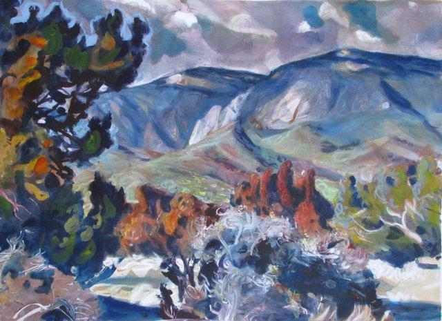 """Sandia Mtns, NM      21 x 29"""""""