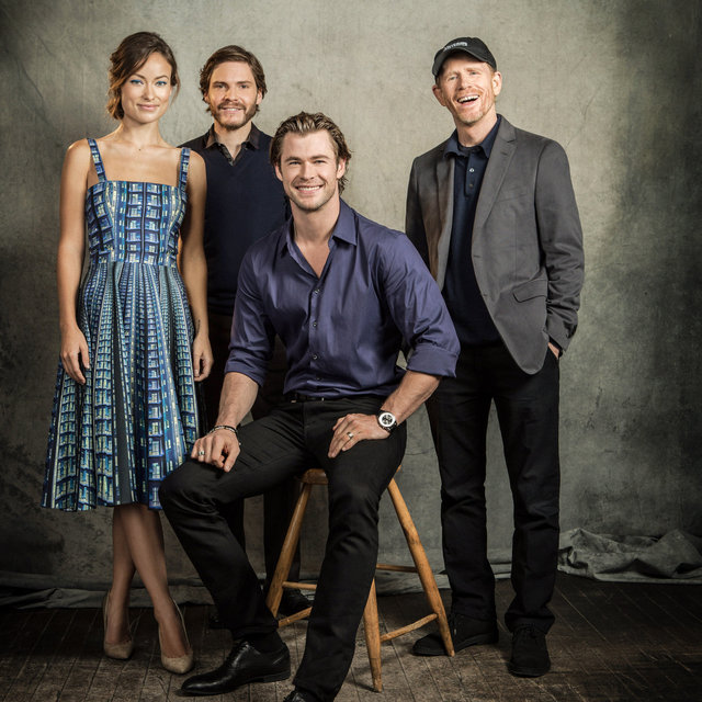 ron howard, director, olivia wilde, daniel bruehl, chris hemsworth, actors
