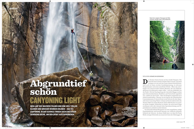 Canyoning Story im Outdoor 8/11