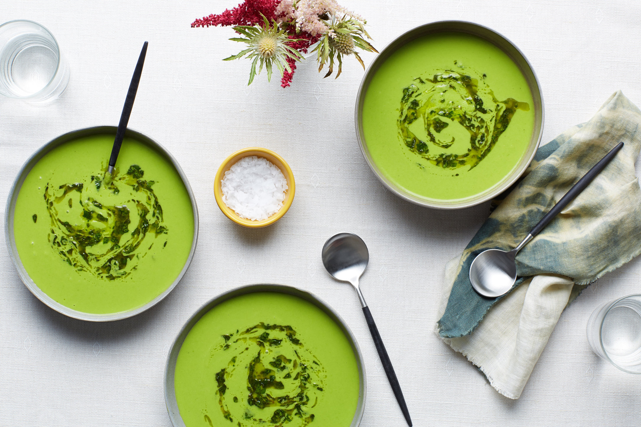 EP_06172015_50dollardinnerpart_Cold-Pea-Soup-With-Herbed-Oil-Swirl_6x4.jpg