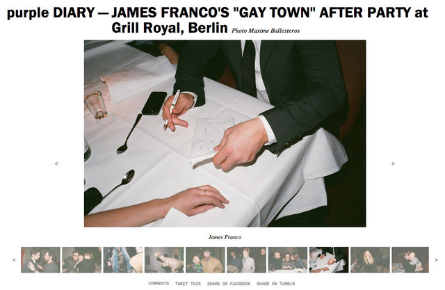 purple DIARY   JAMES FRANCO S  GAY TOWN  AFTER PARTY at Grill Royal  Berlin.jpg