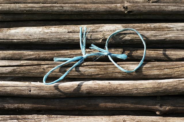 Blauer Strick