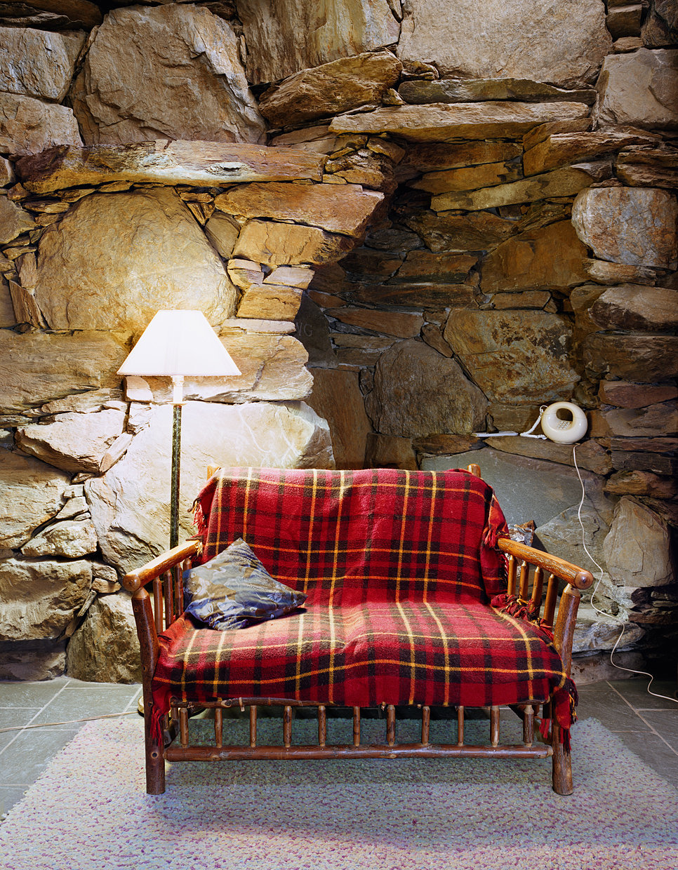 Untitled Interior (plaid sofa), 2010
