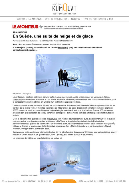 LE MONITEUR - 31/12/15