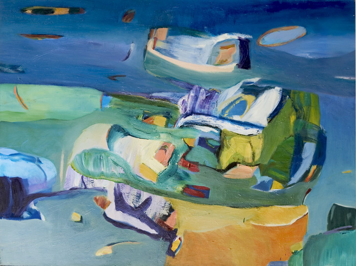 "Voyager II, 1994, Oil on Canvas, 51""x62"""