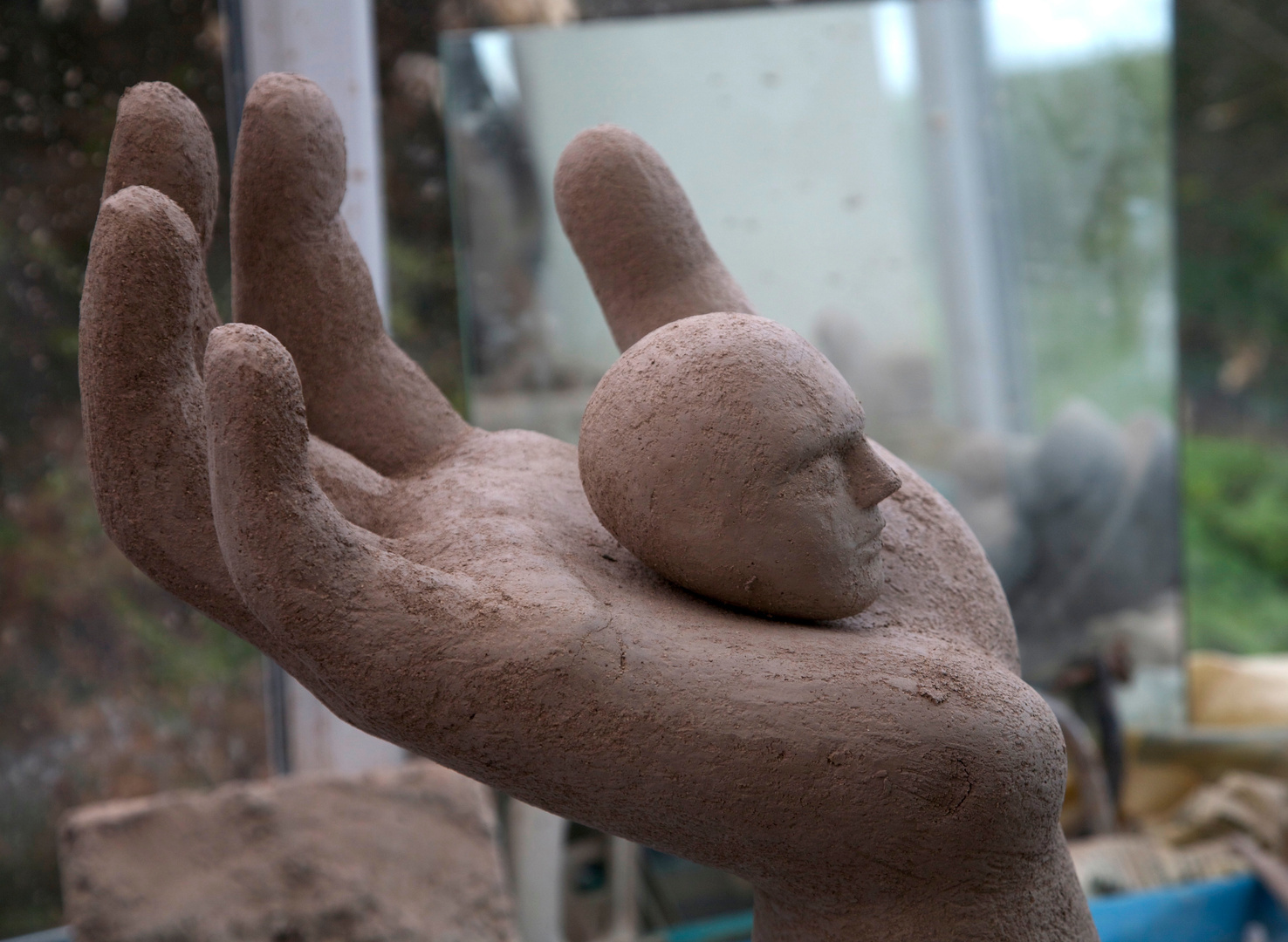 Large Hand with small head (detail)