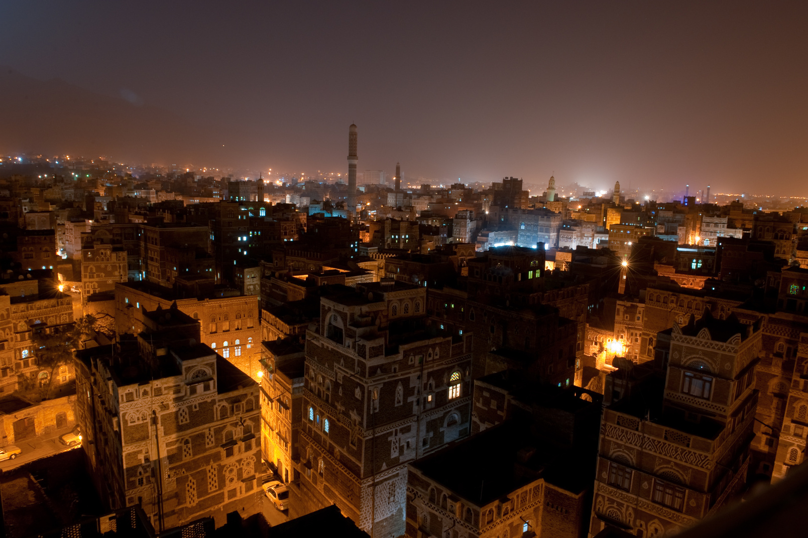 Sana'a at night