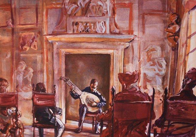"Concert at Del Monte's   22 x 28"""