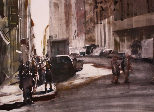 """Midtown Midday    22 x 30"""""""
