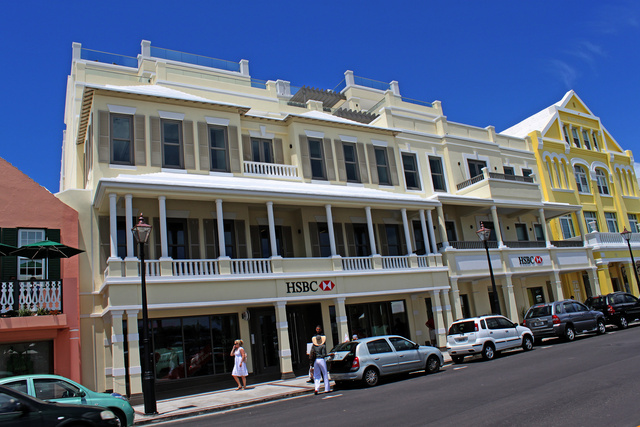 HSBC Bermuda - Front Street elevation
