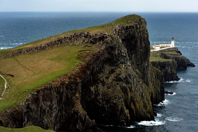 Le phare et pointe de Neist Point, Skye