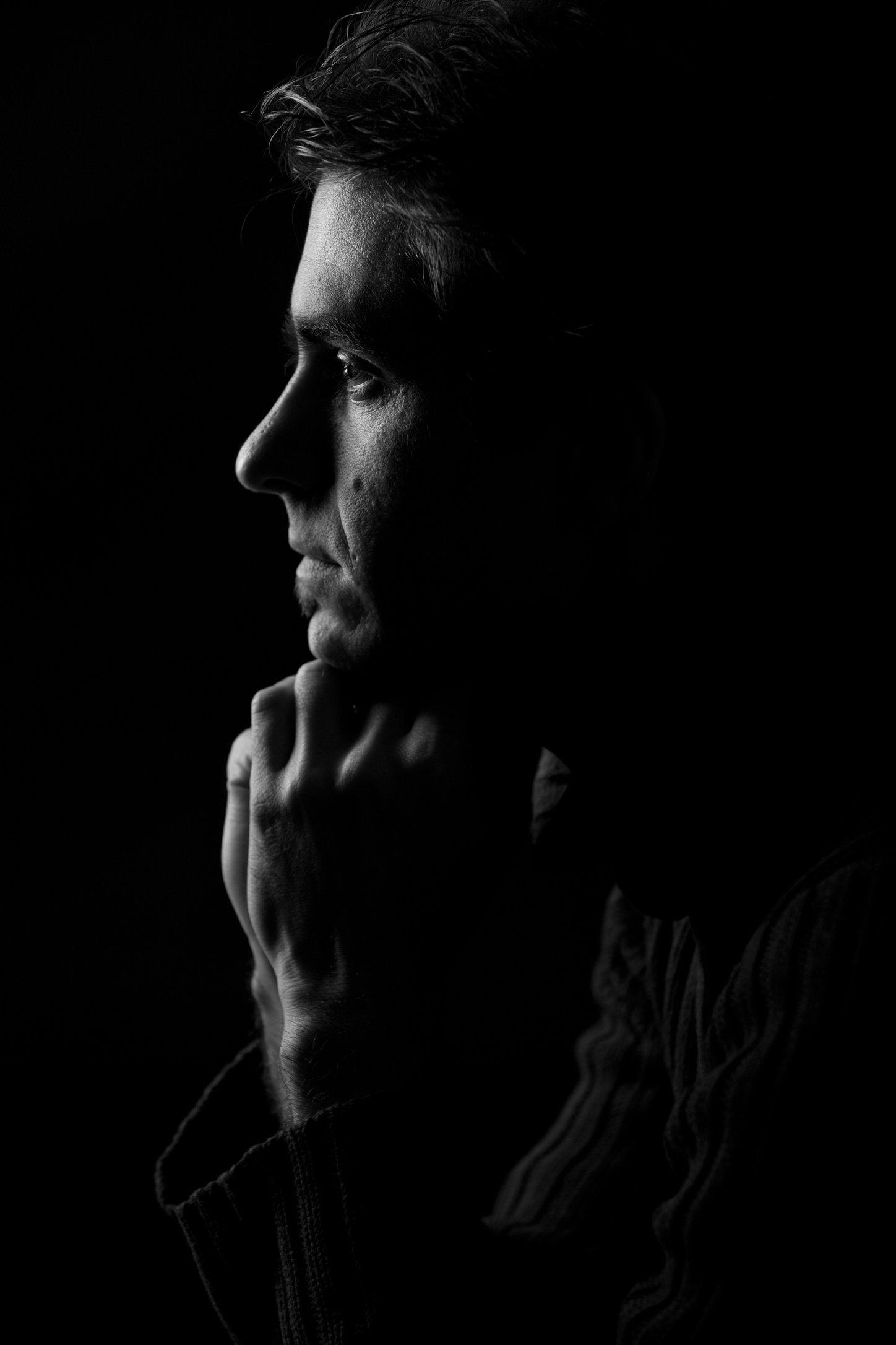 portretfoto man en profile