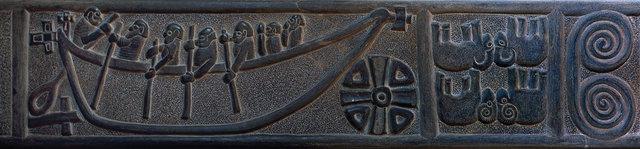 Le pilier sculpté de Kilnaruane, 9 ème siècle, Skellig center, île de Valentia, comté de Kerry