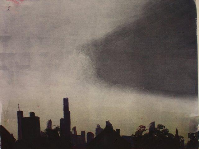 """Sears Tower   20 x 24"""""""