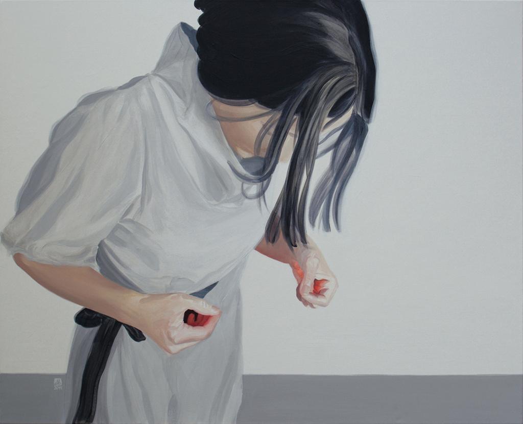Jaki ładny, 73x92, akryl na płótnie, 2011