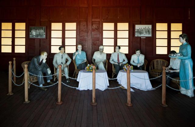 UN delegation diorama at DMZ