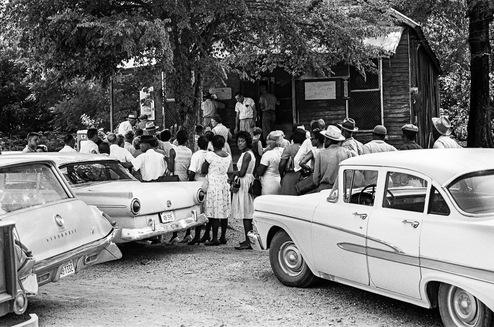 Voting at Sorrell's Store August 6, 1964