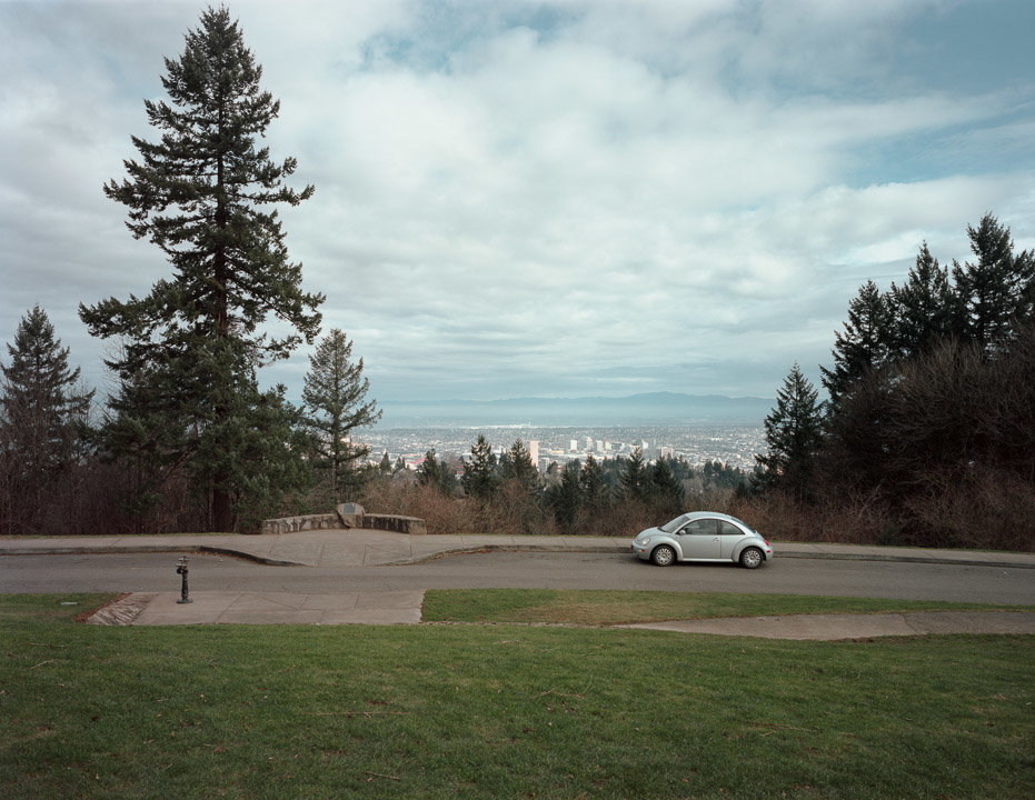 Vista point, Council Crest Park, Portland, Oregon, 2015