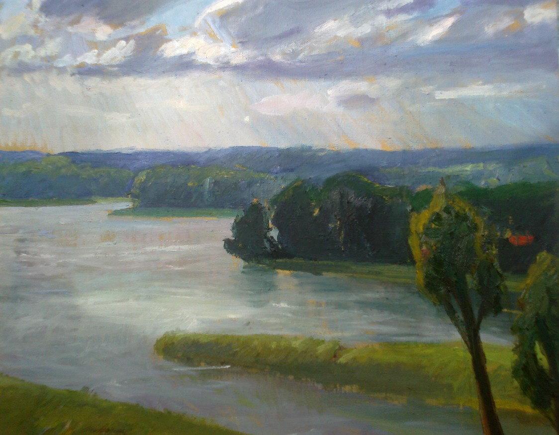 Jezioro Wulpińskie, 60x50 olej płótno