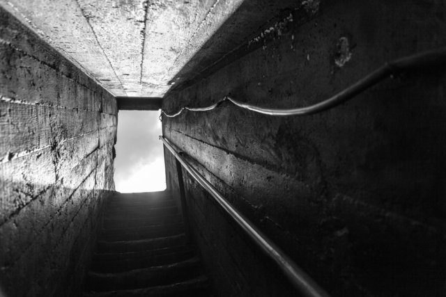 Escalier souterrain. Mine de fer de Jerissa, 2013.