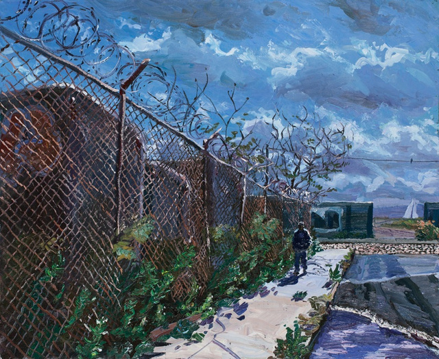 Red Hook Fence II, 30 x 36""