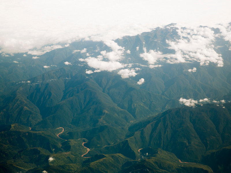 the apurimac river from above