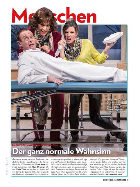 Erich Vock, Maja Brunner, Viola Tami, Schweizer Illustrierte Januar 2015