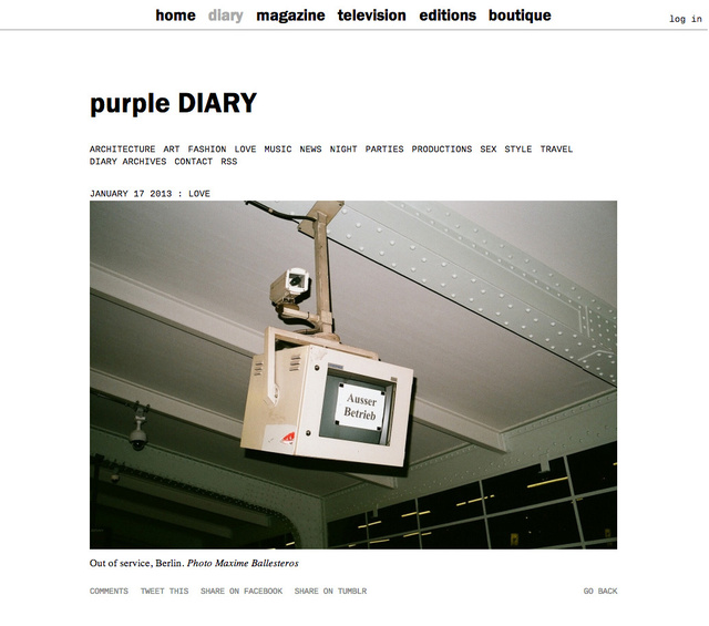 purple DIARY   Out of service  Berlin. Photo Maxime.jpg