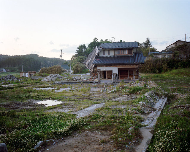 House damaged by the tsunami.