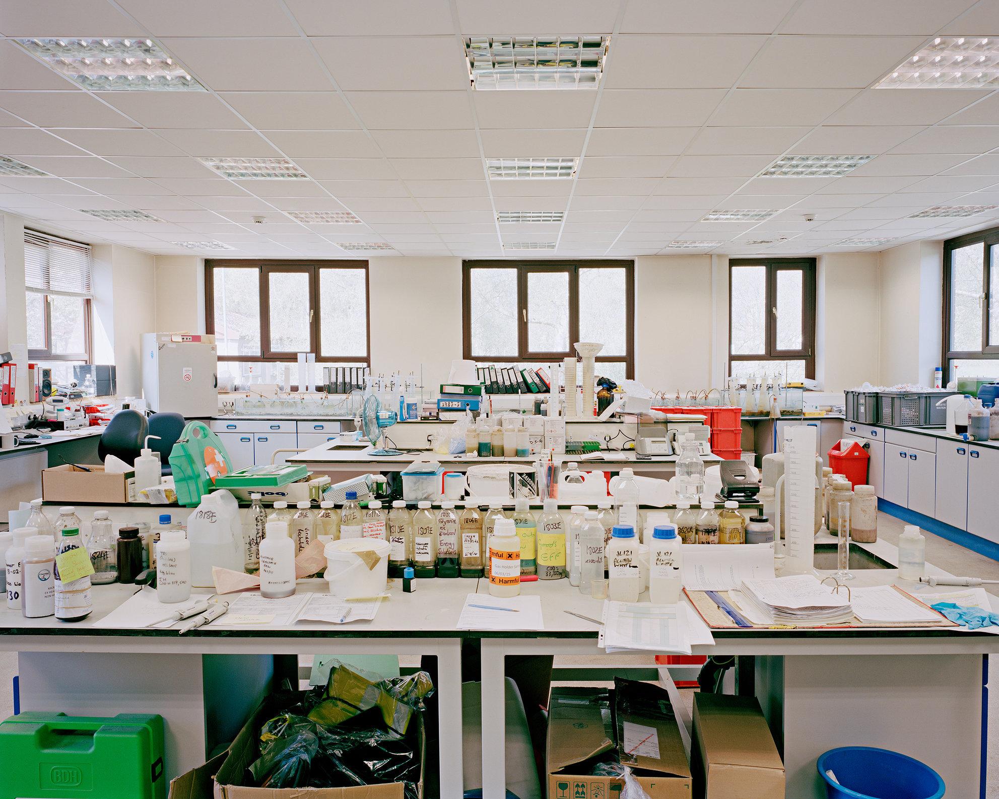 Laboratory, Davyhulme Sewage Treatment Works