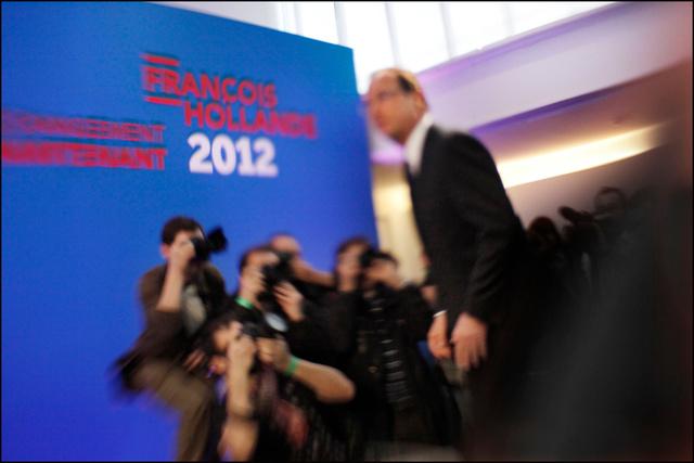 François Hollande et les photographes