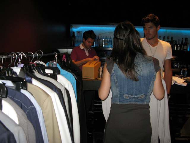 Stylist is getting the models ready for shot 1.jpg