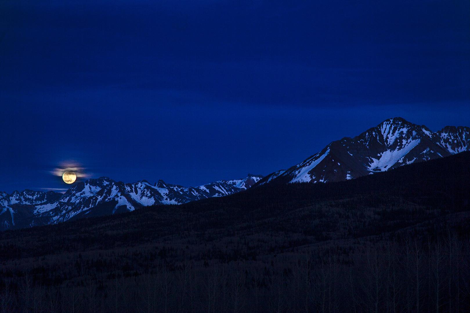 Moonrise, Ophir, Colorado