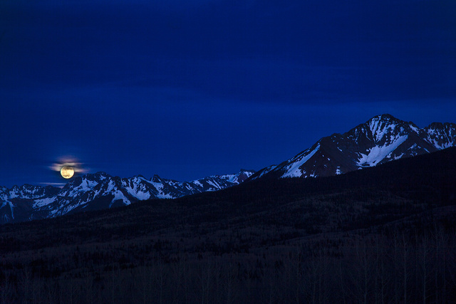 Moonrise, Ophir, Colorado