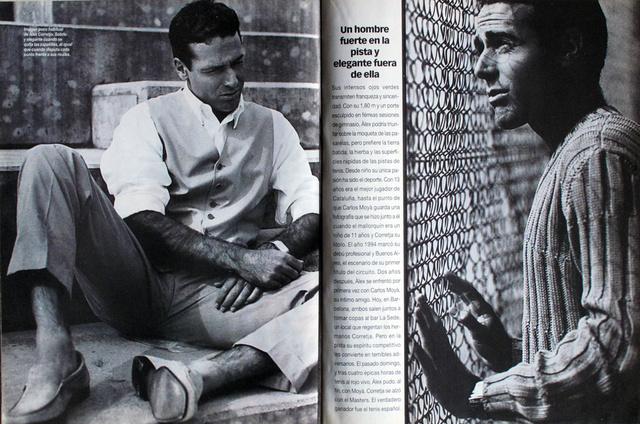 The tennis player Alex Corretja