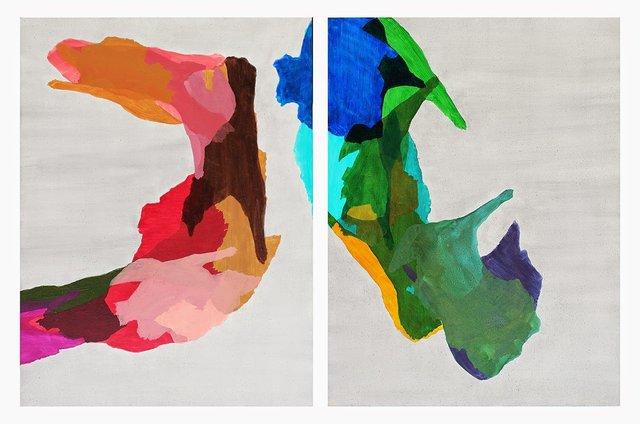 Island 1, Island 2 (diptych), 2014